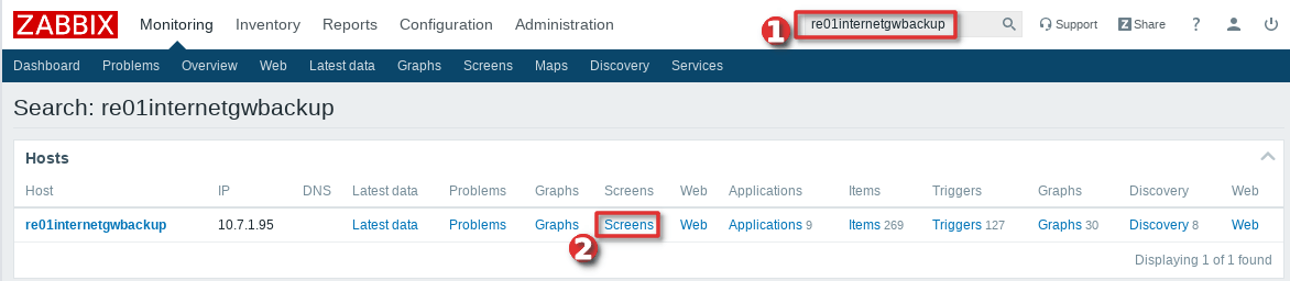 Picture showing how to view graphs on host using screen - Step 1