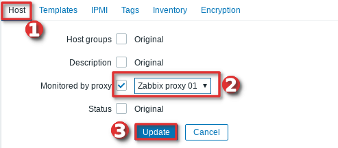 Configure hosts in Zabbix to be monitored by a proxy server - Step 2