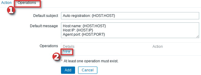 How to configure auto-registration of agents (Linux servers) in Zabbix - Step 3