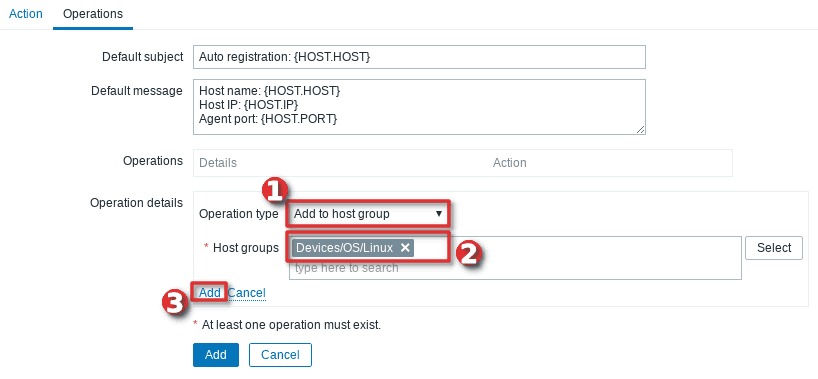 How to configure auto-registration of agents (Linux servers) in Zabbix - Step 4