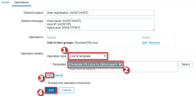 How to configure auto-registration of agents (Linux servers) in Zabbix - Step 5