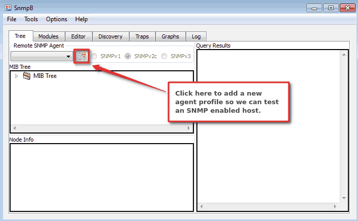 How to add SNMP agent profile on SnmpB MIB browser - Step 1